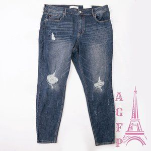 Kancan high rise distressed Plus size skinny jeans